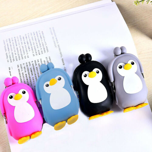 3D Wallet Cute Penguin Cartoon Purse Key Silicone Coin Bag For Kids Gift