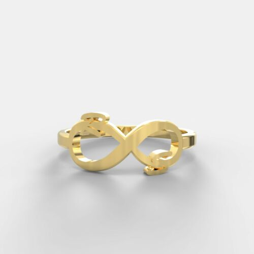 Details about  /Hallmarked 14K Yellow Gold Personalized Initial Name Ring Gold Ring