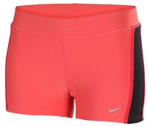 Nike Womens Dri Fit Tempo Tight Fit Pink Running Girls Shorts 640137-601 M /& L