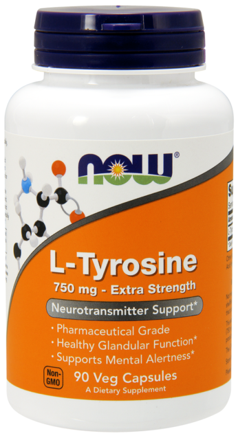 L-Tyrosine  750 mg Now Foods 90 Caps