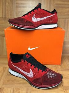wholesale dealer 3cd43 407f7 Image is loading RARE-Nike-Flyknit-Racer-One-Trainer-University-Red-