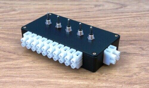 Expo 28069 Pré-Construit Point Motor Switch Box pour 5 x PECO//Seep//HORNBY Auto T48P