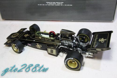 Quartzo 1:18 Lotus 72D JPS F1 1972 British GP Winner #8 *w//Firestone tire marks!