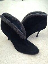 8015655d43f1 item 4 Stuart Weitzman Black Suede Ankle Boots with Faux Fur Trim Booties
