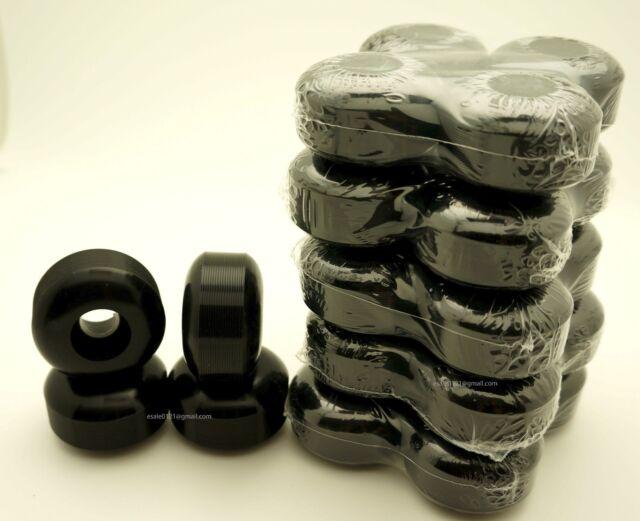 Wholesale Lot 5sets or 10sets 52mm Bk Black Skateboard Wheels