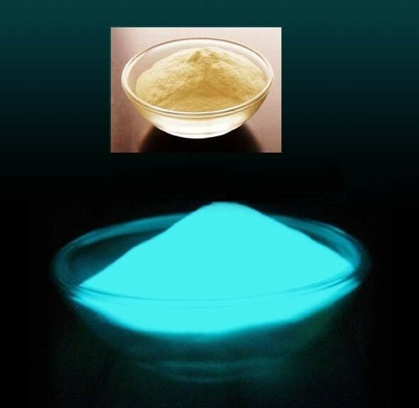 30g blue colour luminous pigment,glow in the dark powder,great brightness