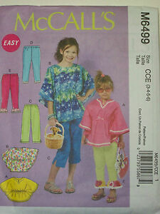 5742338321f69 Image is loading McCalls-6499-CHILDREN-039-S-GIRLS-039-TOPS-