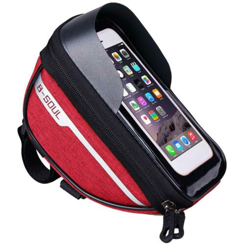 MTB Mountain Bike Frame Front Bag Waterproof Mobile Phone Holder Pannier Bicycle