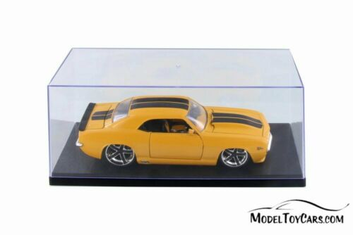Acrylic Display Cases w//Black Base for 1//18 Scale Diecast Cars BOX OF 6 CASES