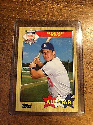 Details about  1987 Topps Baseball # 596 NL All Star Steve Sax 2nd Base