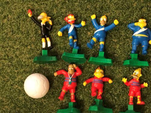 The Simpsons Football Soccer Full 10 FIGURE Set with 3 Balls Burger King 2002