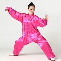 Hot Sale Unisex South Korean Silk Tai Chi Uniforms Chinese Kung Fu Wushu Suits
