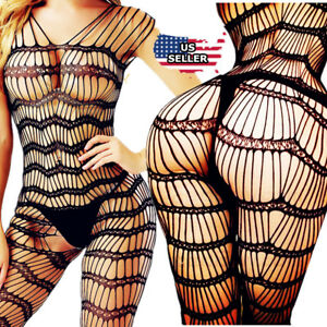 08d703ae96 Image is loading HOT-Women-Sexy-Lingerie-Fishnet-Sleepwear-Body-Stocking-