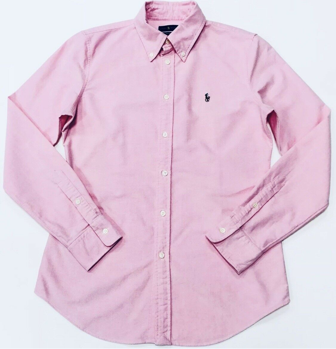 Ralph Lauren camicia oxford slim slim slim fit in rosa d9b084