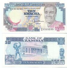 Sambia / Zambia - 10 Kwacha (1989-1991) UNC - Pick 31b