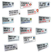 Football Club Metal Street Sign - Official Merchandise - Put On Wall Or Door