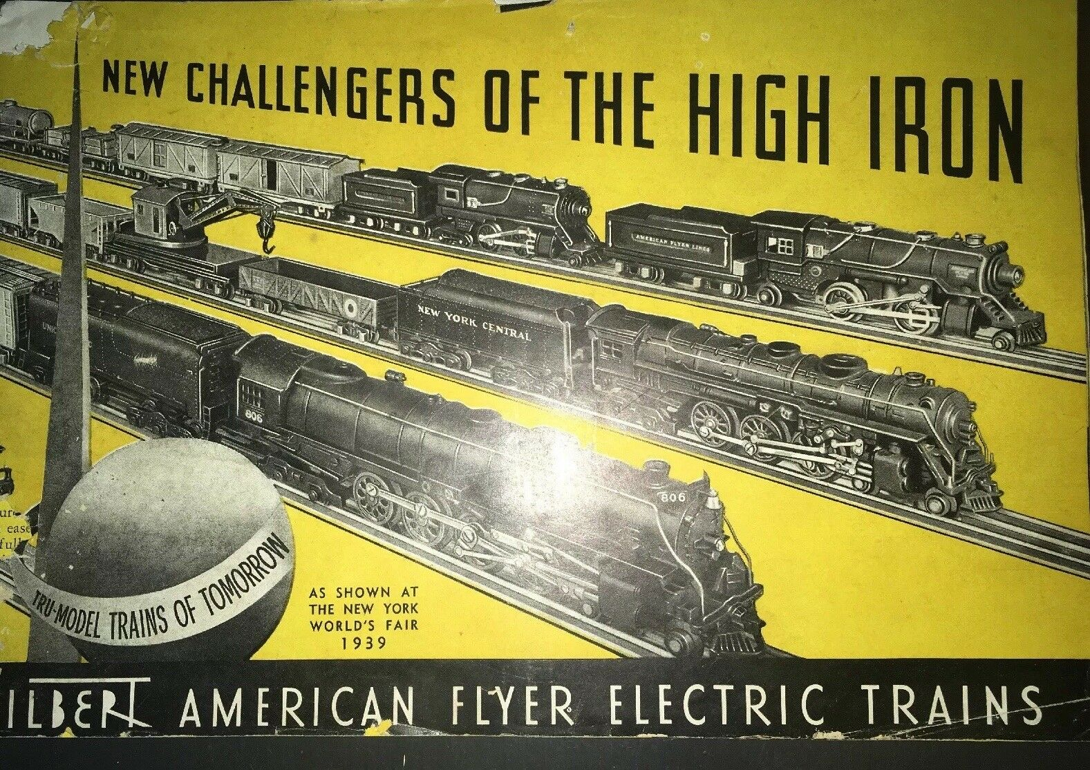 Vintage Collectible 1930s Gilbert American Flyer Trains Catalog