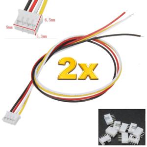 2-Set-4-Stueck-4Pin-2-0-PH-2-0mm-Mini-JST-Stecker-15cm-Kabel-28AWG-Buchse