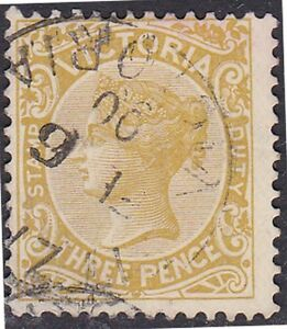 Stamp-V118-1884-VIC-3d-Yellow-Green-Stamp-Duty-ow362
