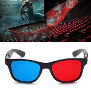 Rouge Bleu 3D Lunettes Plastiques pour 3D TV Anaglyphe Films Jeux Images
