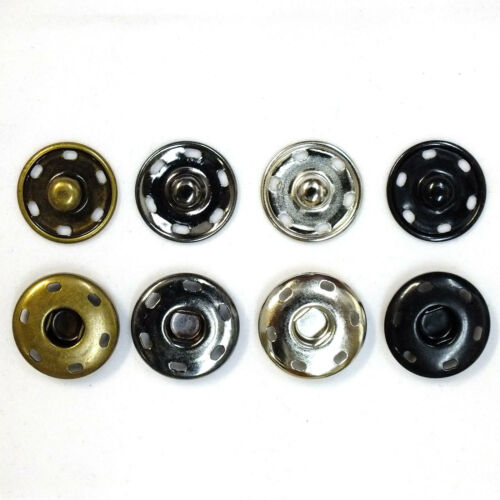 Color New Sew-On Snaps Fasteners Size:19mm 144 sets package Gun Metal