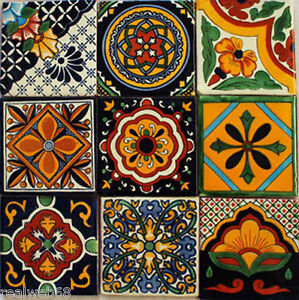 Charming Image Is Loading W140 9 Mexican Talavera Tiles Ceramic Folk Art