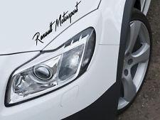 Renault Motorsport Aufkleber Sticker Sports Mind KFZ Limited Edition Decal
