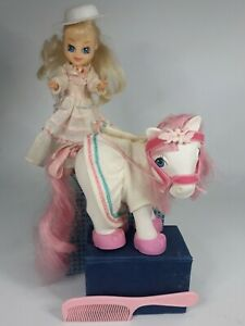 Vintage-1985-G1-My-Little-Pony-Megan-amp-Sundance-lot-extra-HTF-doll-accessories