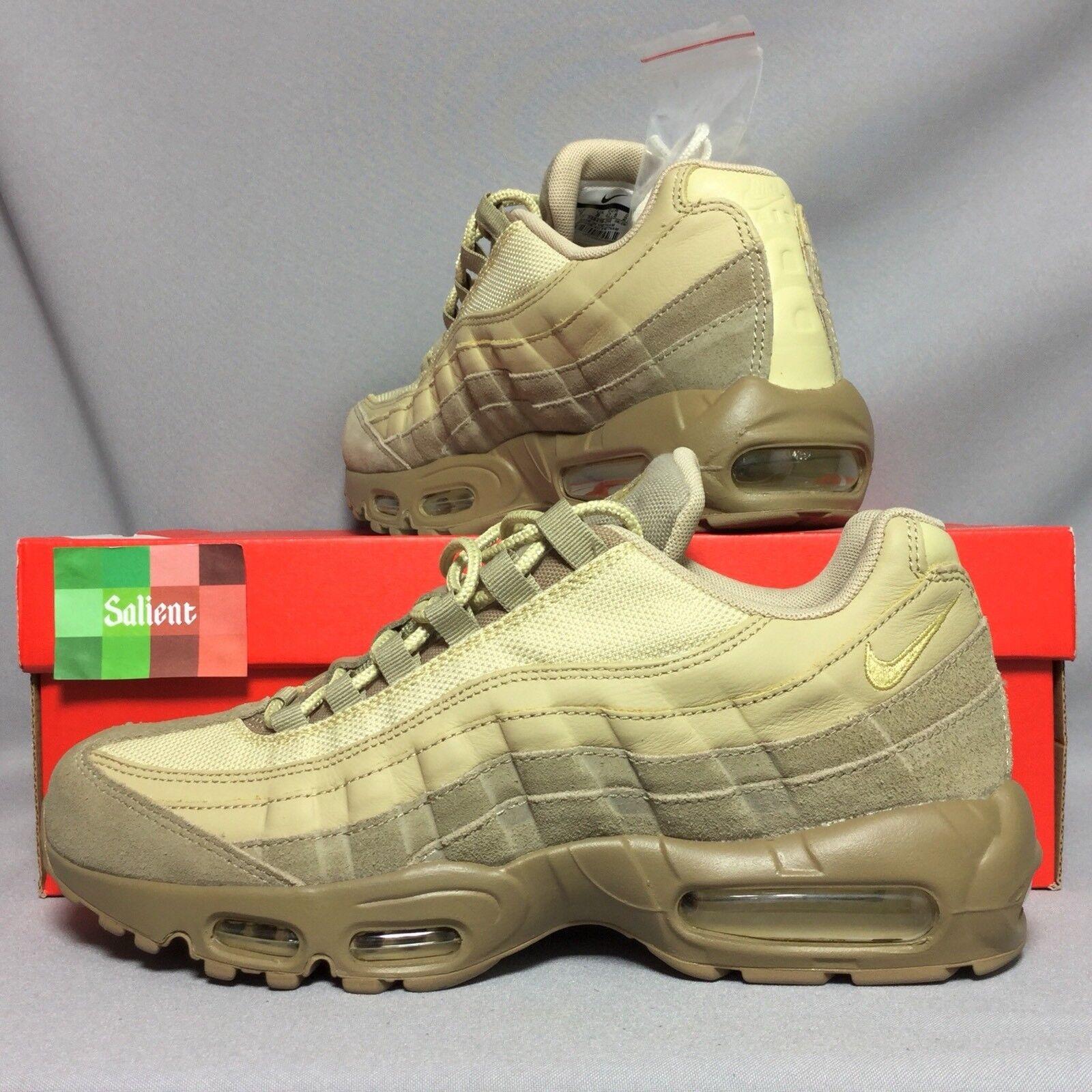 Nike Air 538416-202 Max 95 Premium UK8 538416-202 Air EUR42.5 US9 Khaki Gold Mushroom Suede PRM 52bac2
