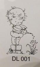 Little Dawn - Watering - Nellie Snellen Acrylic Cling Stamp DL001