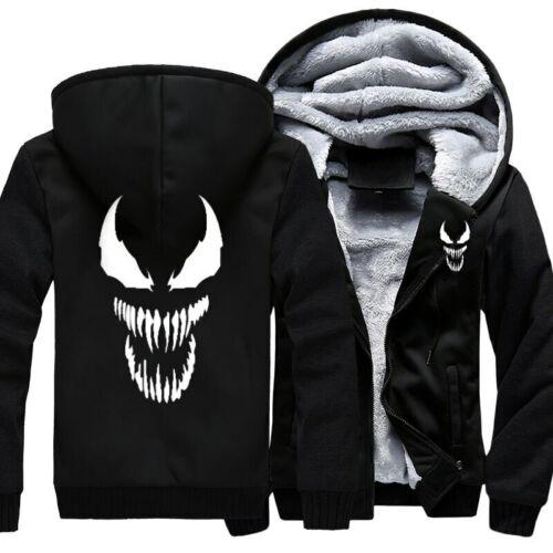 Venom Marvel con cappuccio Gilet Hoodie Zip Up Giacca Uomo