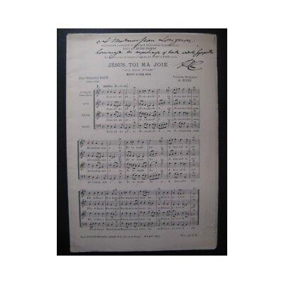 Bach J. S. Jesus, Toi Ma Joie Chant Partitur Sheet Music Score