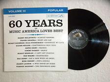 LP 60 YEARS OF MUSIC AMERICA LOVES BEST VOL 3 Sinatra, Belafonte... LOP 1509 µ