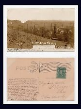 OKLAHOMA TULSA SCENE IN OIL FIELD REAL PHOTO 1908 TO IVA DULL OF ST MARYS, OHIO