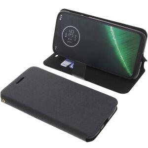 Custodia-per-Motorola-Moto-G7-Power-Book-Style-Protettiva-Cellulare-Nero