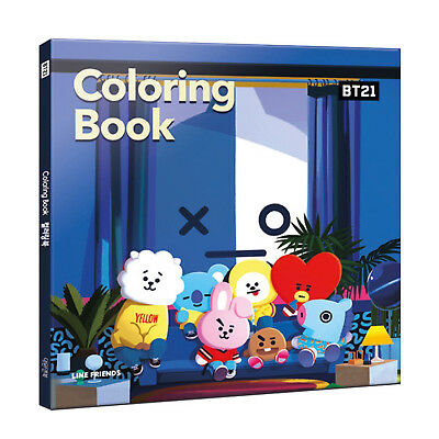 Bts X Line Friends New Bt21 Coloring Book Free Shipping Tracking Ebay