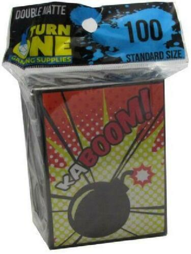 Double Matte 100ct Standard Sized Sleeves New Turn One 4V9 Turn One Kaboom