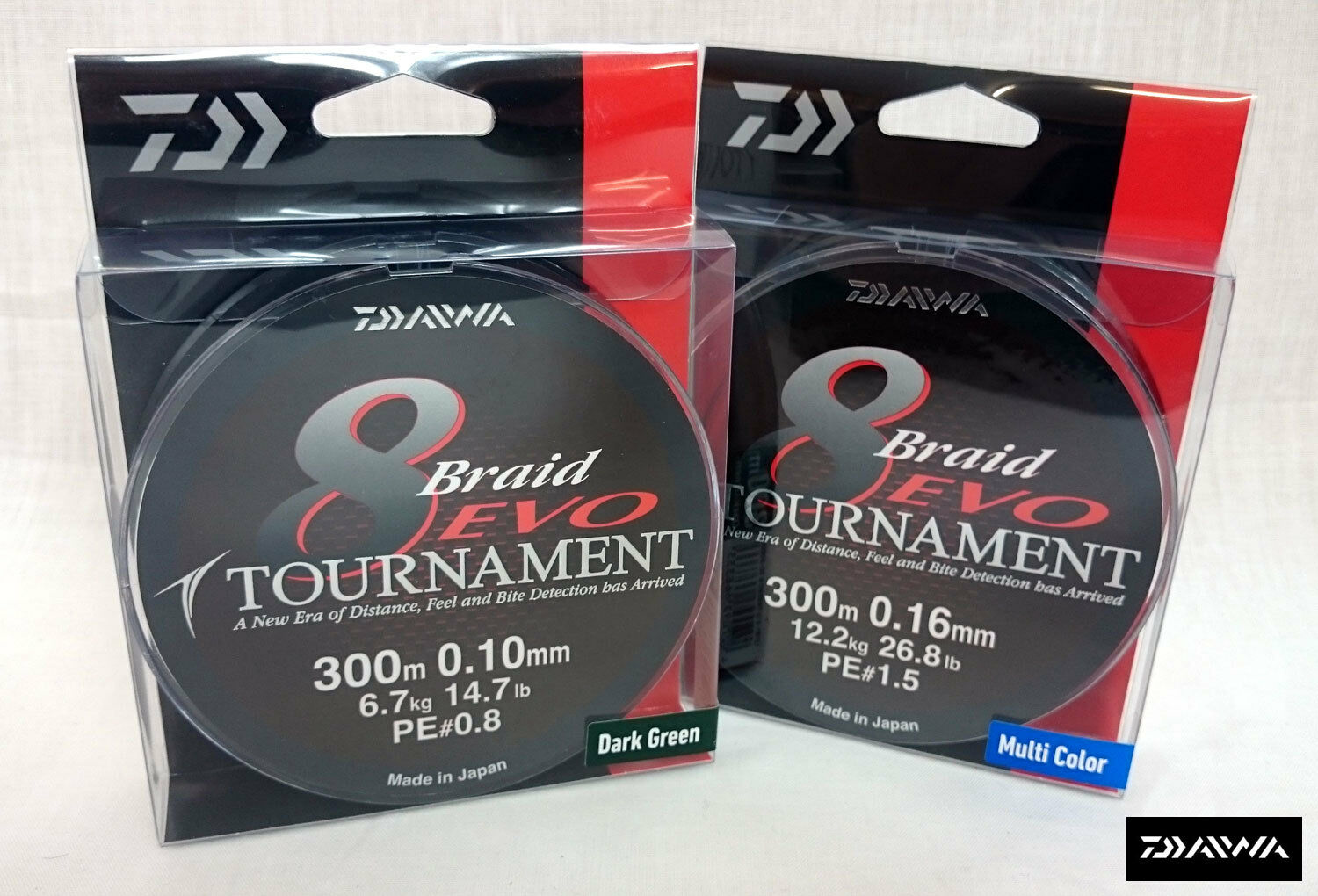 NEW DAIWA TOURNAMENT EVO 8 BRAID 300m SPOOL  ALL COLOURS AND BREAKING STRAINS  cheap sale