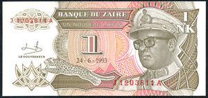 Genteel Zaire Other African Paper Money 1 Nouveau Likuta 1993 P 47 Lot 2 Pcs Uncirculated Banknotes Hot Sale 50-70% OFF