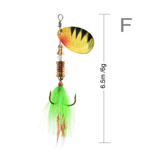 Hot Durable Sequins Portable Fishing Lure Treble Hook Crank Bait Spoon Spinner