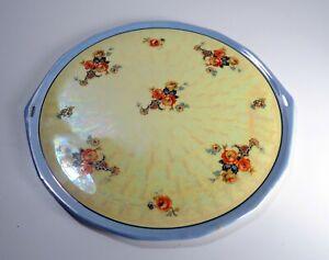 Royal-Rudolstadt-Cake-Platter-Hand-painted-Roses-on-Opalescent-Background