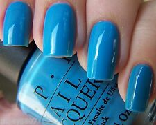 New OPI Brights *NO ROOM FOR THE BLUES* Vivid Blue Cream Nail Polish Lacquer B83