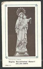 estampa antigua de la Virgen del Rosario santino holy card image pieuse