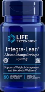 2X $18 Life Extension Integra-Lean Irvingia 60 caps 150 mg