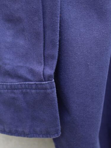 100/% cotone twill lavato Soft Dark Blue Work Shirt by Code l/'imprevisto