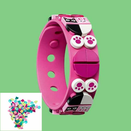Bag of Dots Bracelet Funky Animals 33 pcs New Pink 41908 41901 LEGO DOTS