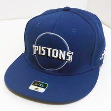 80b2fae676daa Detroit Pistons Authentic adidas Flex Fit Grey Blue Hat Cap Large X-Large