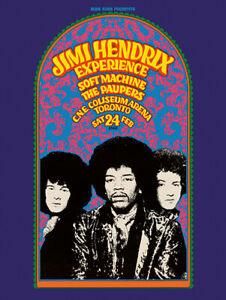 Sixties - Jimi Hendrix Experience concert poster reprint (1968)
