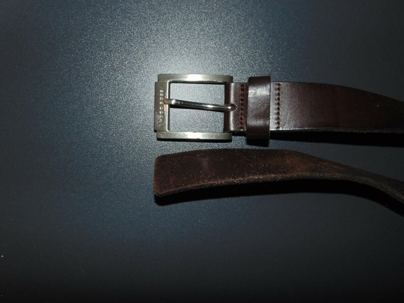 Hugo Boss Gürtel Ledergürtel braun Gr: 90
