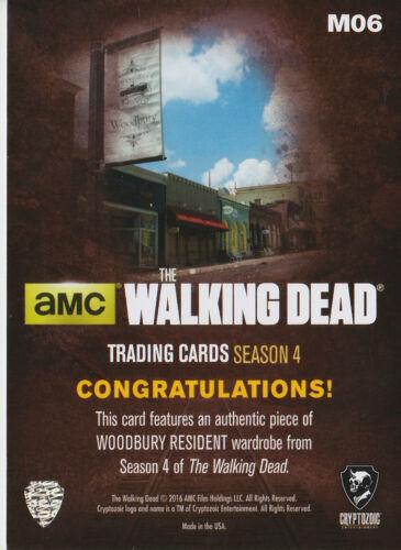 The Walking Dead Season 4//1 M06 Wardrobe Card Woodbury Resident